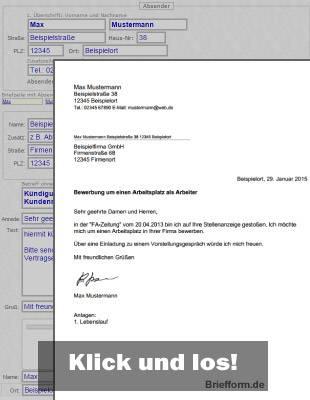 Briefform.De - Kostenlose Musterbriefe, Vorlagen Und Beispiele