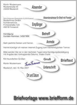 Briefform.de - kostenlose Musterbriefe, Vorlagen und Beispiele ...